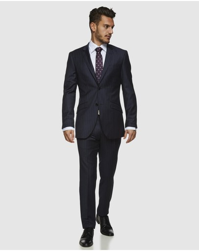 Kelly Country - Navy Pinstripe Wool Suit Set