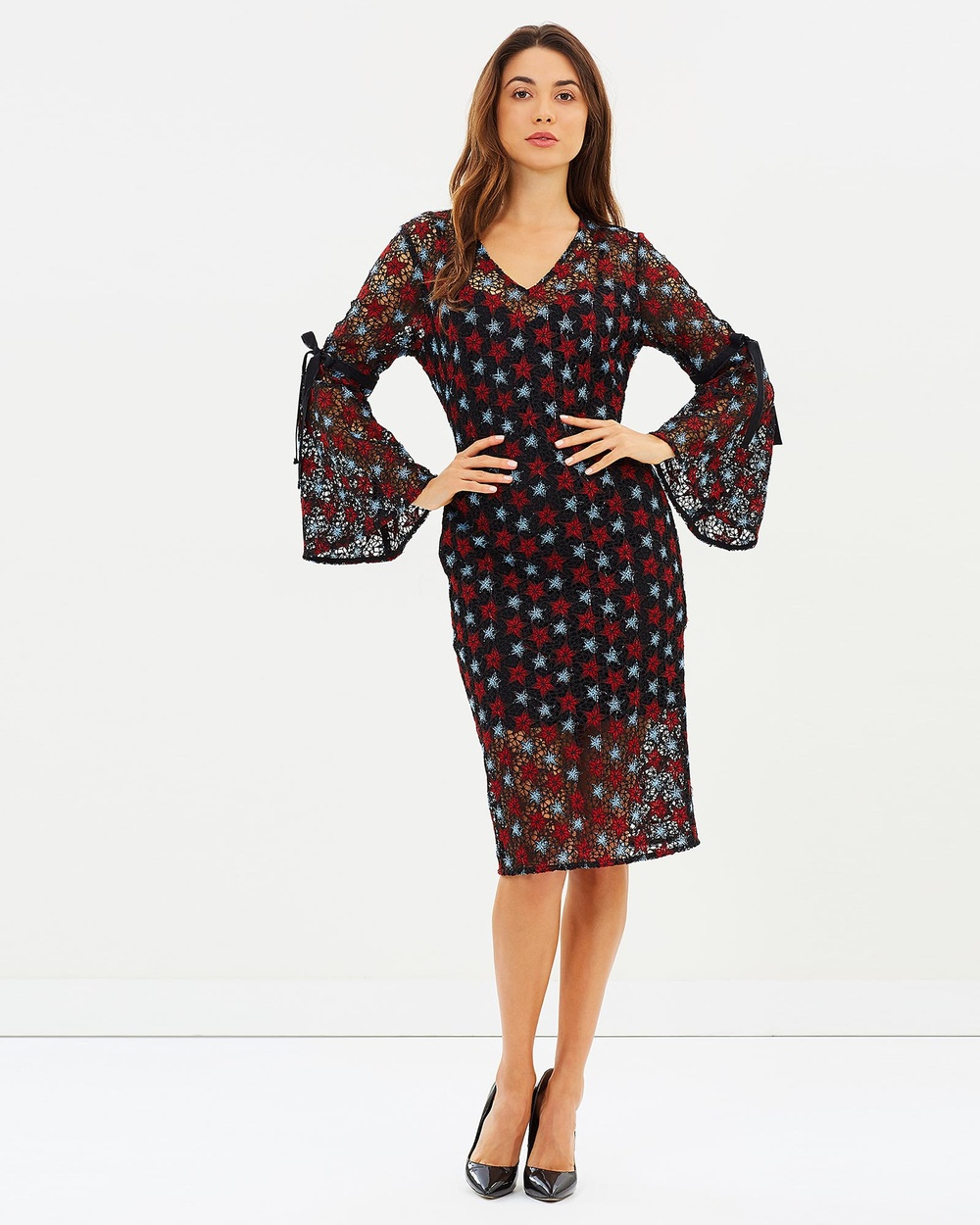 Honey and Beau Ophelia Dress Dresses Red Print Ophelia Dress