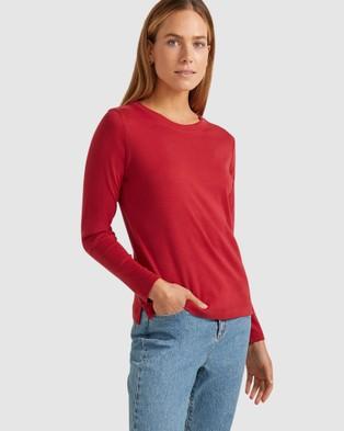 Sportscraft - Heidi Long Sleeve Tee - T-Shirts & Singlets (Red) Heidi Long Sleeve Tee