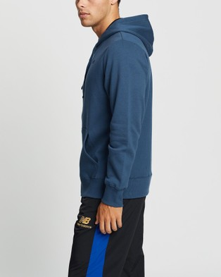 New Balance Fleece Full Zip Hoodie - Hoodies (Stone Blue)