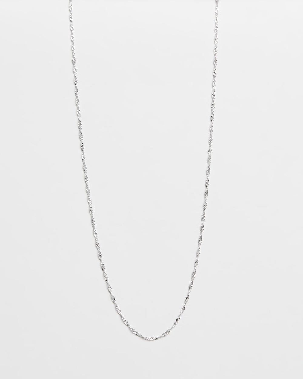 SAINT VALENTINE Geneva Fine Rope Chain Necklace Jewellery Silver