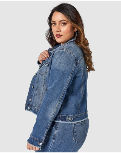 Sunday In The City Holiday Denim Jacket Mid Wash