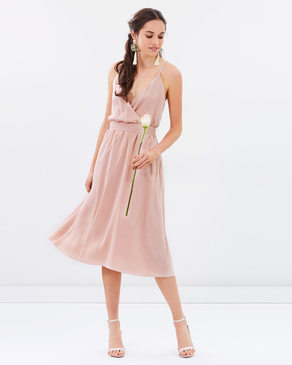 Atmos & Here ICONIC EXCLUSIVE Arabella Cross Back Dress Bridesmaid Dresses Nude Pink ICONIC EXCLUSIVE Arabella Cross Back Dress