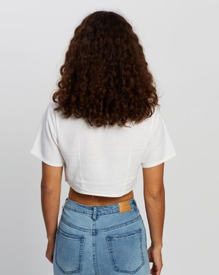 All About Eve Harlow Cropped Shirt - Cropped tops (White)