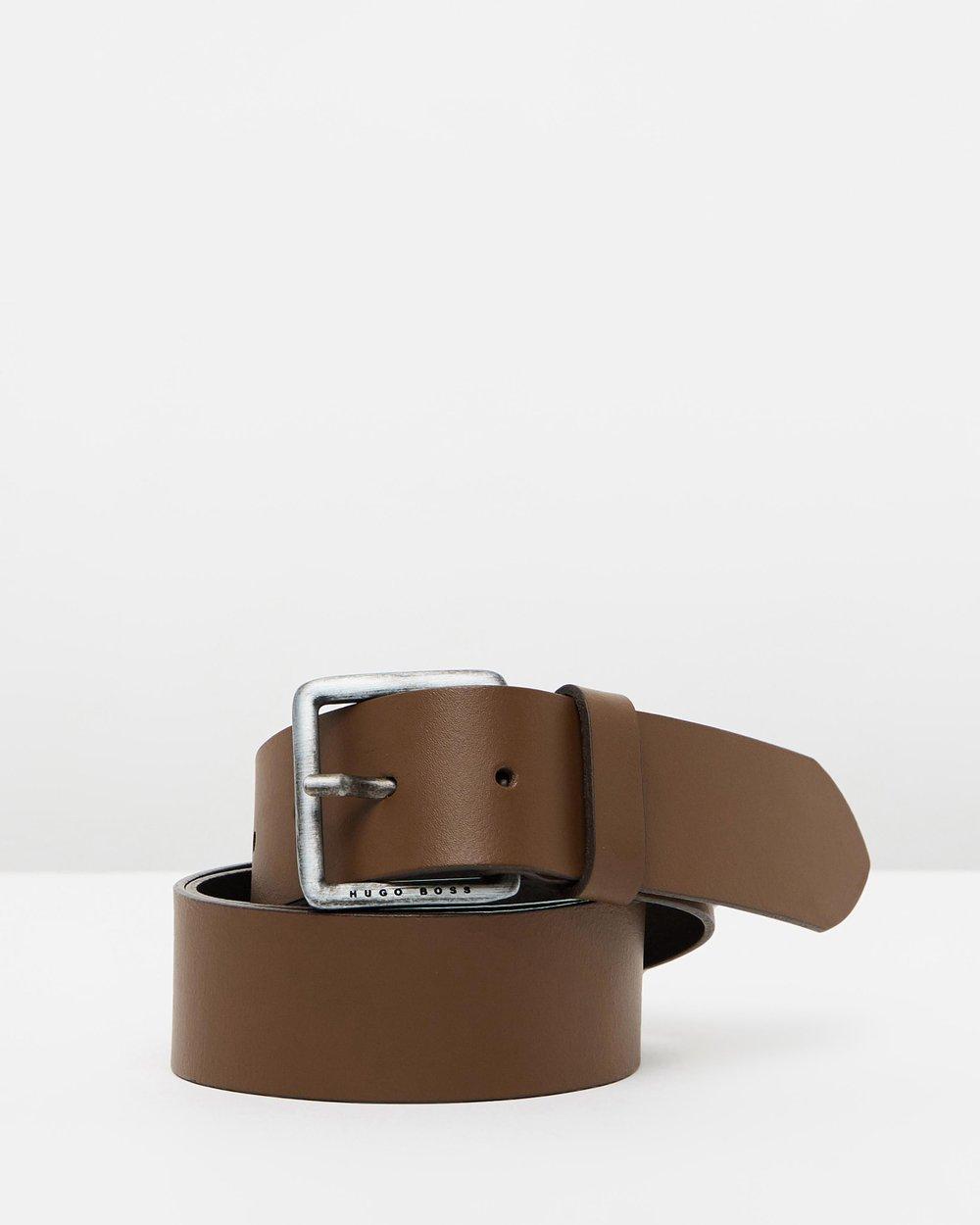 84d5cf034239 Jeeko Leather Belt by BOSS Online | THE ICONIC | Australia