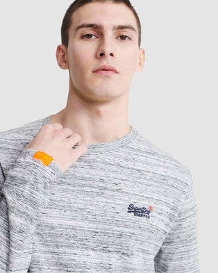 Superdry Orange Label Vintage Embroidered Long Sleeve Top - Long Sleeve T-Shirts (Desert Stone Space Dye)