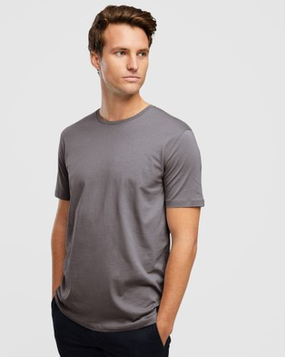 Wayver - The Essential Crew Tee 3 Pack - Short Sleeve T-Shirts (Black, Light Grey & Rock) The Essential Crew Tee 3-Pack