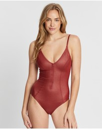 Running Bare - Jinx Zip-Front Swim One-Piece