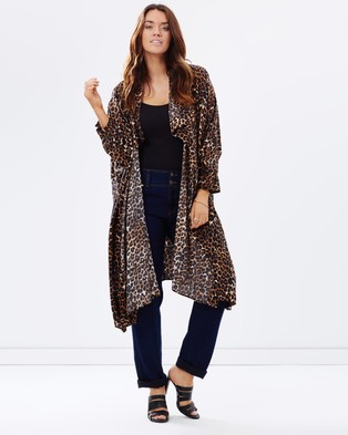 Embody Denim – Cape Dress Cheetah Print