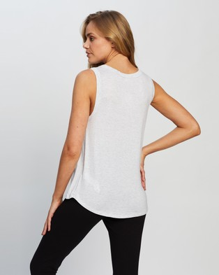 Cotton On Maternity Maternity Everyday Girlfriend Tank - Tops (Silver Marle)