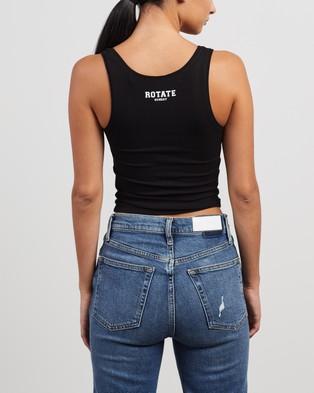 ROTATE Birger Christensen Blomma Top - T-Shirts & Singlets (Black)