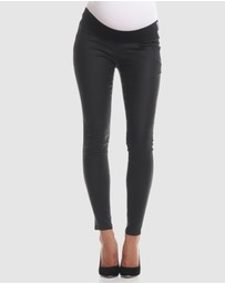 Soon Maternity - Coated Skinny Jeans