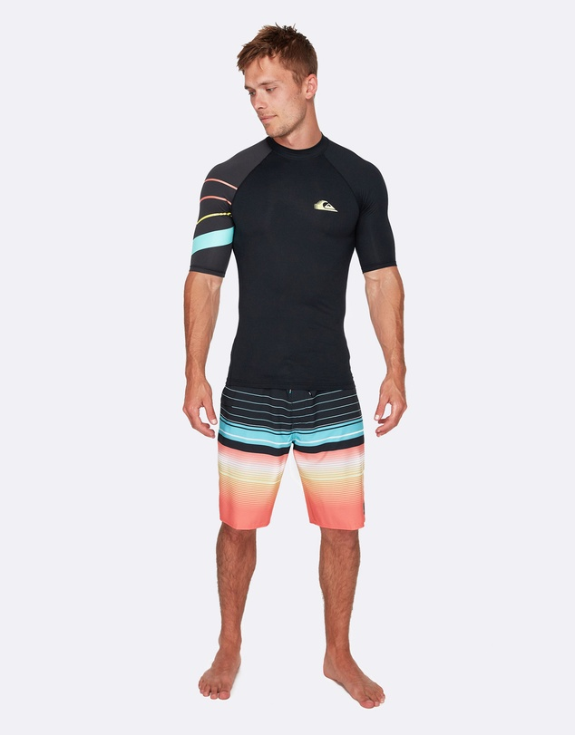 Quiksilver - Mens Active Short Sleeve UPF 50 Rash Vest