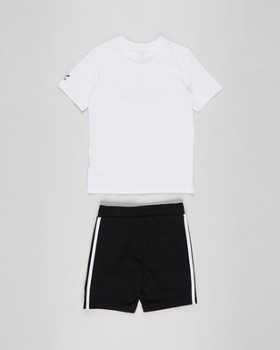 adidas Originals Short & Tee Set Kids Shorts White, Multicolour, Black White