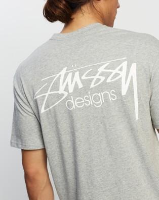 Stussy - Designs Tee - T-Shirts & Singlets (Grey Marle) Designs Tee