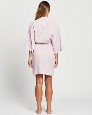 Atmos&Here Maya Cotton Robe Sleepwear Lilac