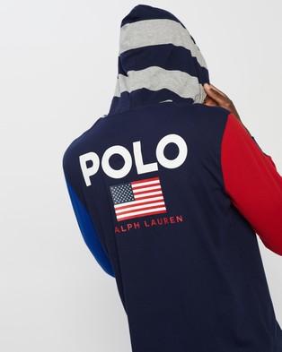 Polo Ralph Lauren Hooded Long Sleeve T Shirt - Hoodies (Cruise Navy Multi)