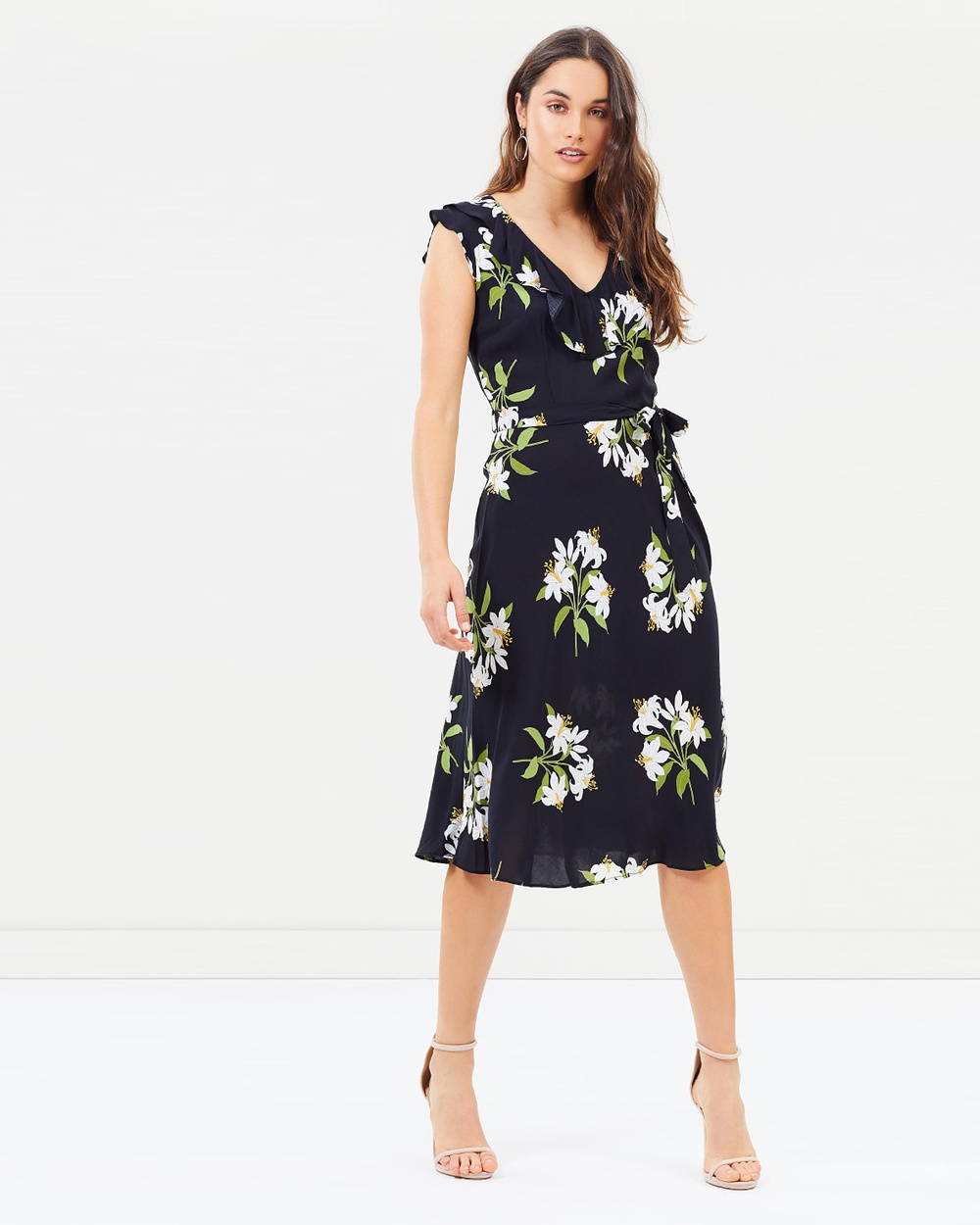 Wallis Lily Bouquet Dress Printed Dresses Black Lily Bouquet Dress