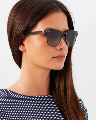 RaBan - Blaze Clubmaster RB3576N - Sunglasses (Black & Grey Gradient Dark Grey)