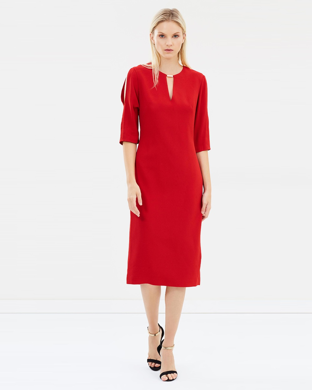 Ginger & Smart Pinacle Fitted Dress Dresses Rouge Pinacle Fitted Dress