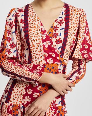 Never Fully Dressed Tangier Print Dakota Dress - Printed Dresses (Pink)