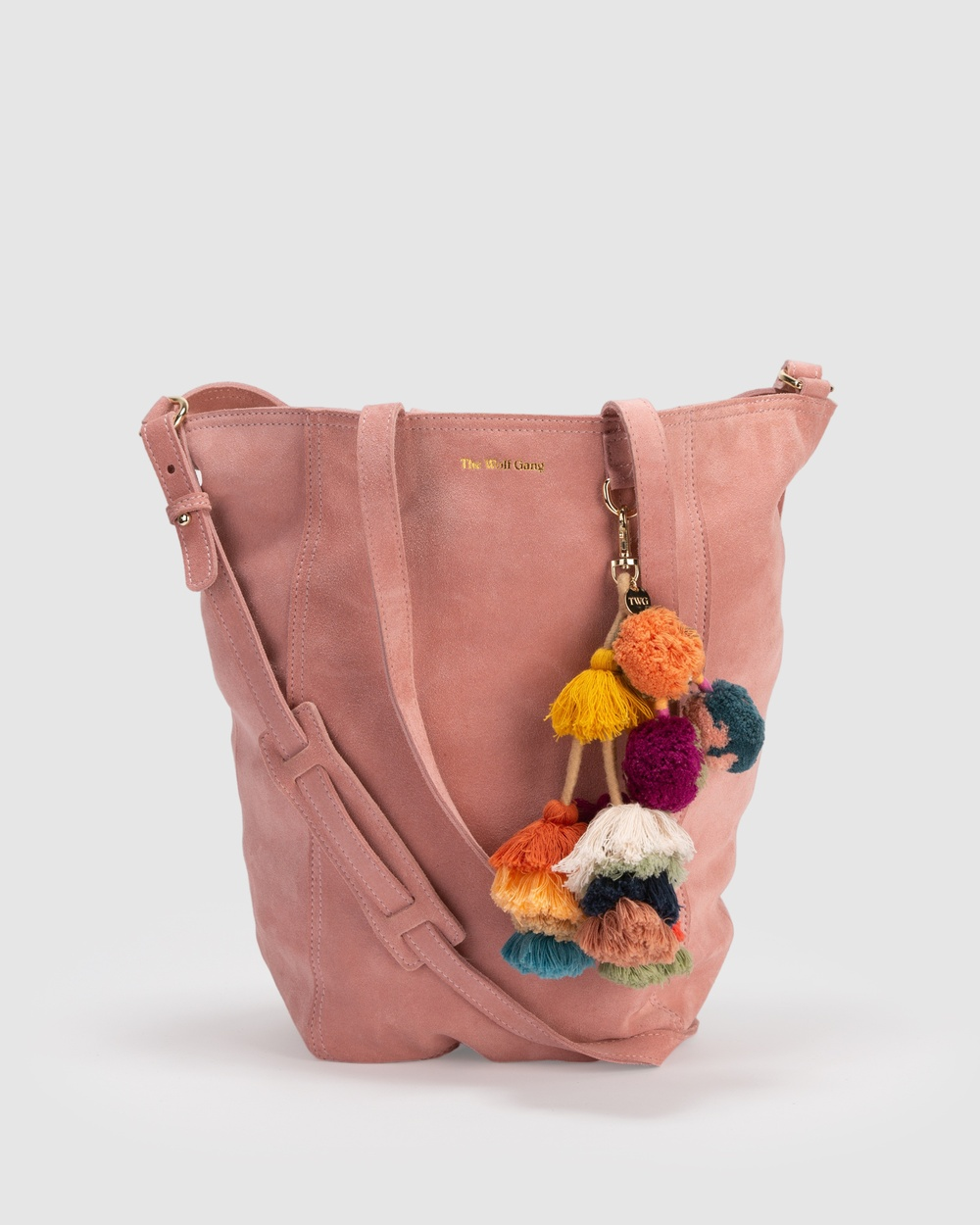 The Wolf Gang Berber Tote Satchels Pink