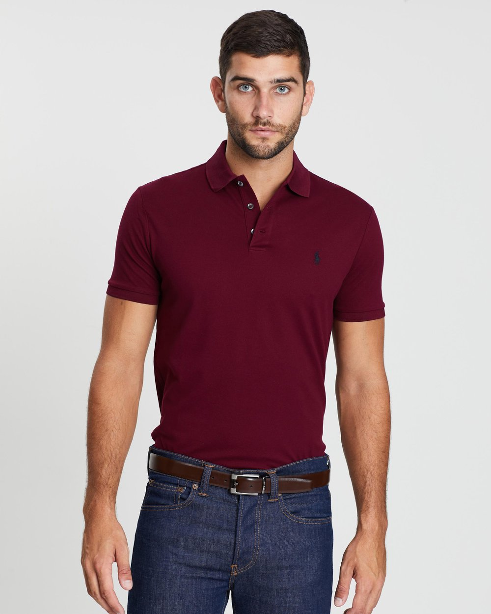 835ebdc6a5d3 Custom Slim Fit Mesh Polo by Polo Ralph Lauren Online
