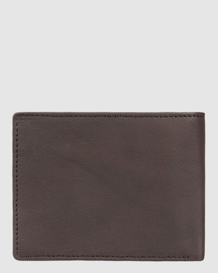 Quiksilver Mens Gutherie Leather Bi Fold Wallet - Wallets (Chocolate Brown)