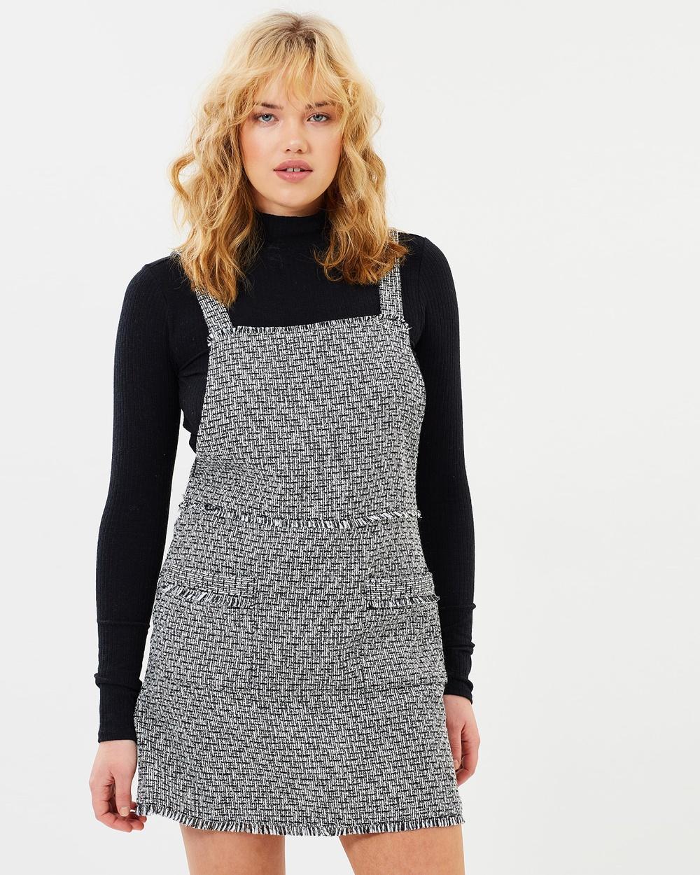 MINKPINK Beatrix Pinnie Dress Dresses Black & White Beatrix Pinnie Dress