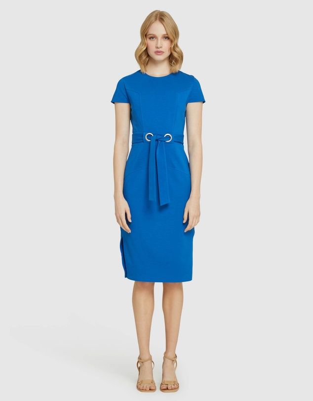 Oxford - Juliette Eyelet Detail Ponti Dress