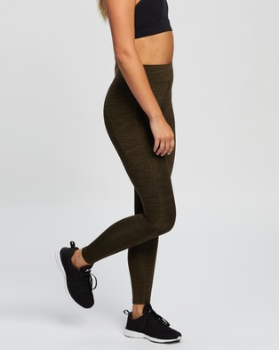 Running Bare Ab Waisted Flex Zone Full Length Tights - Full Tights (Escarp SPC)