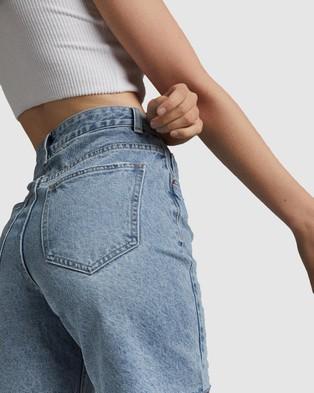 Cotton On Straight Denim Bermuda Shorts - Denim (Aireys Blue)