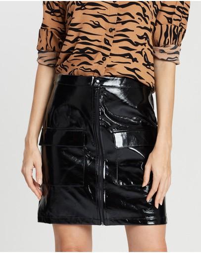 Na-kd Shiny Skirt Black