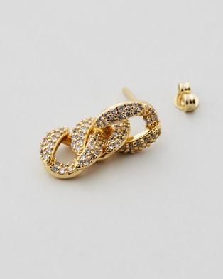 Emma Pills The Shine Short Earrings Jewellery Gold