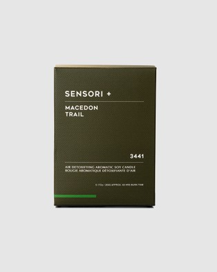 SENSORI + Detoxifying Soy Candle Macedon Trail 3441   260g - Candles (Green)