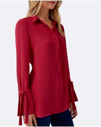 Forever New - Cherry Tie Sleeve Tunic