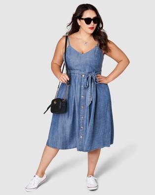 Sunday In The City Cruel Summer Midi Dress - Dresses (blue)