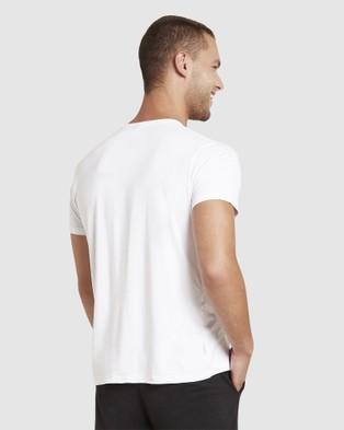 Boody Organic Bamboo Eco Wear - 2 Pack Crew Neck T Shirt - Short Sleeve T-Shirts (Black + White) 2 Pack Crew Neck T-Shirt
