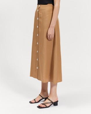 bul Bass Skirt - Skirts (Camel)