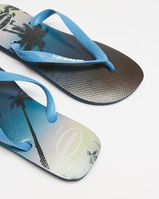 Havaianas - Hype   Men's - All thongs (Navy Blue & Steel Blue) Hype - Men's