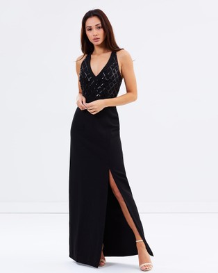 Bariano – Out Of Sight Out Of Mind Twisted Knot Maxi Dress – Dresses (Black)