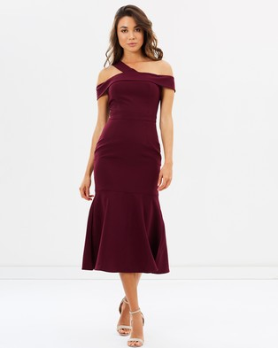 Mossman – To Rome With Love Dress – Dresses (Burgundy)