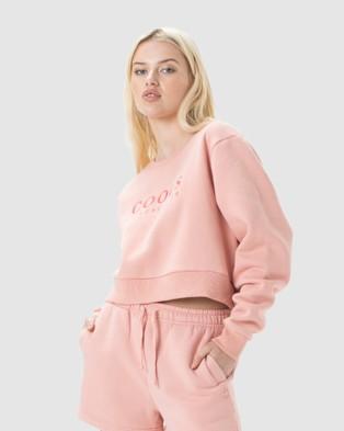 Cools Club Leisure Club Crew Fleece - Sweats (Pink)