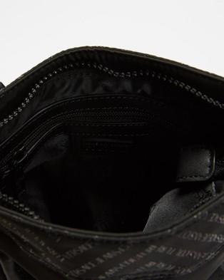 Versace Jeans Couture Linea Chevron Cross Body Bag - Bags (Chevron Black Nylon)
