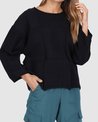 Madison The Label Denver Knit - Jumpers & Cardigans (Black)
