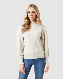 French Connection - Flossy Puff Sleeve High Neck Jumper