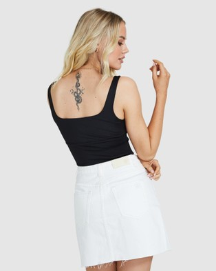 Dont Ask Amanda Ruby Scruched Top - Tops (BLACK)