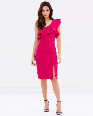 Bardot – Ruffle Dress Azalea