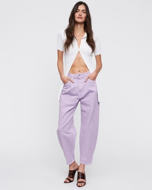 Lioness On My Way Jeans - Relaxed Jeans (Lilac)