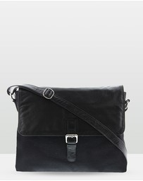 Cobb & Co - Notting Leather & Canvas Satchel